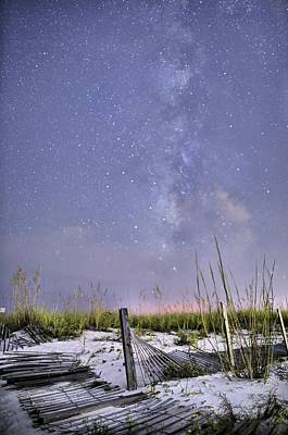 Photograph - Milky Way Over The Beach by JC Findley