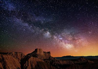 Photograph - Milky Way Over The Desert by Inigo Cia