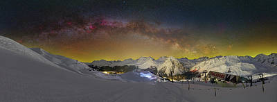 Photograph - Milkyway Over Toblerone by Ralf Rohner
