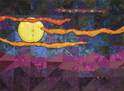 Tapestry - Textile - Millefiori Moonlight by Pam Geisel