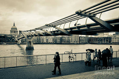 Photograph - Millennium Bridge 03 by Arnaldo Tarsetti