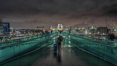 Photograph - Millennium Bridge And St Pauls by James Billings