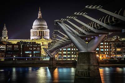 Photograph - Millennium Bridge St Paul's Left #1 by Framing Places