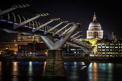 Photograph - Millennium Bridge St Paul's Right #2 by Framing Places