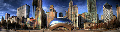 Photograph - Millennium Park, Cloud Gate, And The by Jeffrey Barry