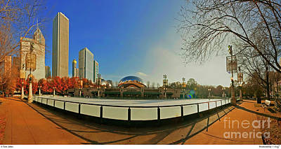 Photograph - Millennium Park Mccormick Tribune Ice Rink Jele3642 by Tom Jelen