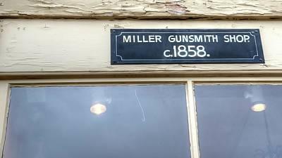 Photograph - Miller Gunsmith by Jerry Sodorff