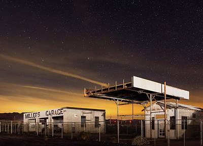 Photograph - Miller's Garage By Night by TM Schultze