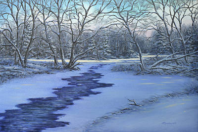 Painting - Millhaven Creek In Winter by Richard De Wolfe