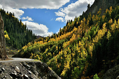 Photograph - Million Dollar Highway Climbs Through Ouray Canyon by Ray Mathis