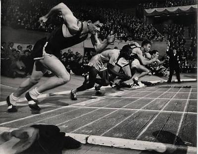 Photograph - Millrose Games In Madison Square Garden by Gjon Mili