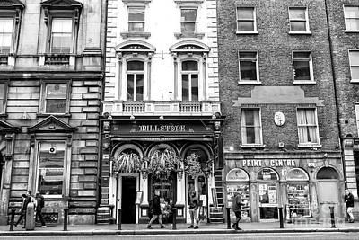 Photograph - Millstone On Dame Street Dublin by John Rizzuto