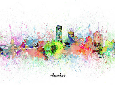Abstract Skyline Royalty-Free and Rights-Managed Images - Milwaukee Skyline Artistic by Bekim M