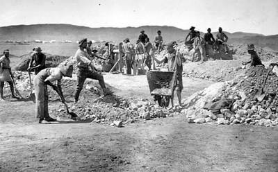 Mine Workers Art Print by Robert Harris