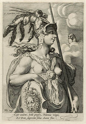 Drawing - Minerva by Jan Saenredam