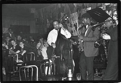 Photograph - Mingus Performs At The Five Spot Cafe by Fred W. McDarrah