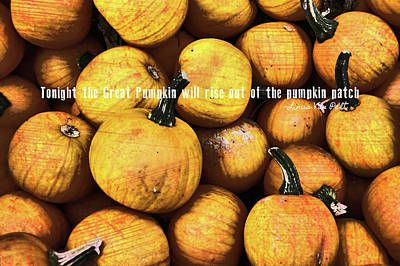 Linus Wall Art - Photograph - Mini Pumpkin Patch Quote by JAMART Photography