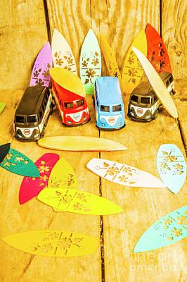 Surf Boards Wall Art - Photograph - Mini Van Adventure by Jorgo Photography - Wall Art Gallery