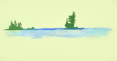 Painting - Minimal Watercolor Landscape by Dan Sproul