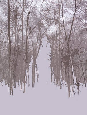 Mixed Media - Minimal Winter Day by Dan Sproul