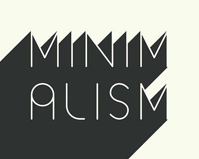 Black And White Art Digital Art - Minimalism by Jazzberry Blue