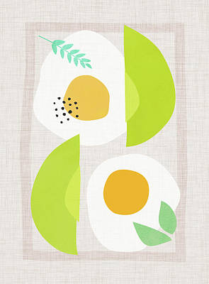 Kristian Gallagher Royalty-Free and Rights-Managed Images - Minimalist Avocado and Eggs by Kristian Gallagher