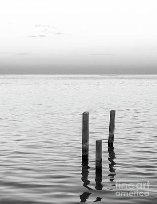 Photograph - Minimalist Ocean Landscape Black And White by Tim Hester