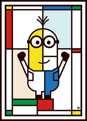 Digital Art - Minion Mondrian by Gary Grayson