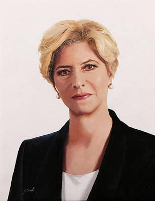 Portraits Paintings - ministro Roberta Pinotti by Guido Borelli