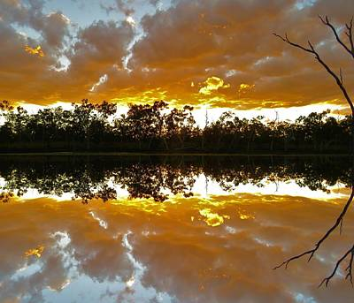 Photograph - Minnamoolka Sunset Reflection 1 by Joan Stratton