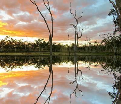 Photograph - Minnamoolka Sunset Reflection 3 by Joan Stratton