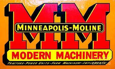 Photograph - Minneapolis Moline Nameplate Emblem Label by Olivier Le Queinec