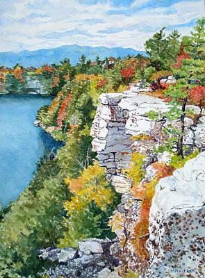 Minnewaska Fall Cliff Art Print by Mira Fink