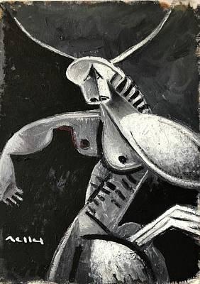 Minotaur Wall Art - Painting - Minotaur by Mark M Mellon