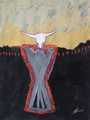Painting - Minotaur Original Painting by Sol Luckman