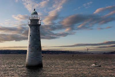 Photograph - Minots Ledge Light, Boston Harbor by Kickstand
