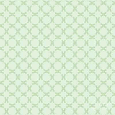 Digital Art - Mint Soft Pastels Pattern by Sharon Mau