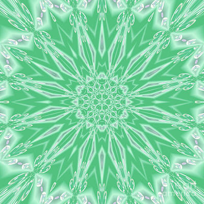 Digital Art - Mint Star  by Rachel Hannah