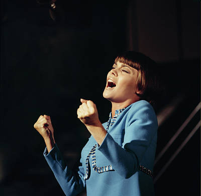 Photograph - Mireille Mathieu Performs On Tv Show by David Redfern