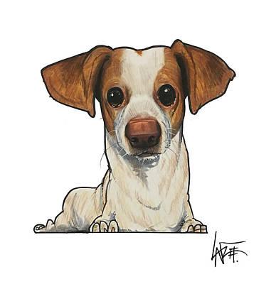 Drawing - Mireles The Doggie Dog Dog by John LaFree