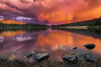 Photograph - Mirror Lake Sunet by Michael Ash