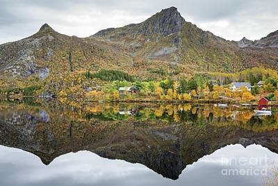 Photograph - Mirror Lake Svolvaervannet by Eva Lechner