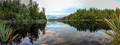 Photograph - Mirror Like Reflections Of Aoraki Mount Cook And Mount Tasman By Olena Art by OLena Art Brand