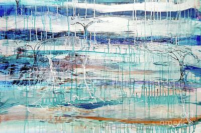 Open Impressionism California Desert - Mirror, Mirror by Cheryle Gannaway