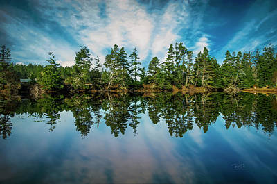 Photograph - Mirrored Sky by Bill Posner