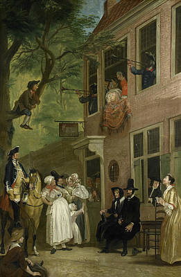 Painting - Misled - The Ambassador Of The Rascals Exposes Himself by Cornelis Troost