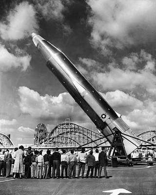 Missile And Cyclone Art Print by Hulton Archive