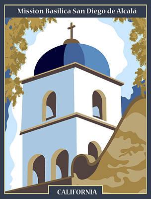 Mission Basilica San Diego De Alcala Art Print