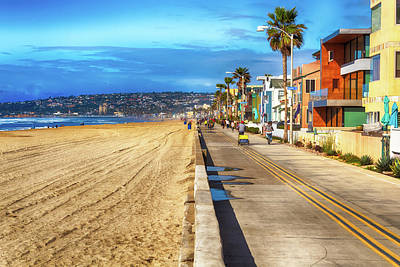 Photograph - Mission Beach Boardwalk by Alison Frank
