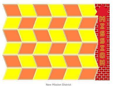 Digital Art - Mission District by John Steven Calder